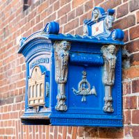 Blue Post Box Replica From 1896 - Lauenburg, Germany